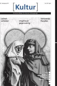 Titelseite Zeitung Kulturzeoht zwei Figuren mit Heiligenschein